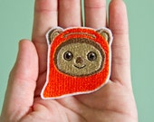 Ewok -- Embroidered Iron-on Ewok Patch from Starwars
