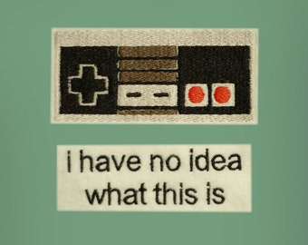 Nintendo Controller  -- Nintendo Iron-on Embroidered Patch Set
