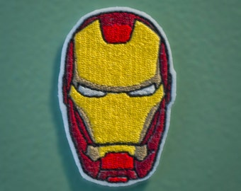 Iron Man Helmet - Embroidered Avengers Super Hero Patch