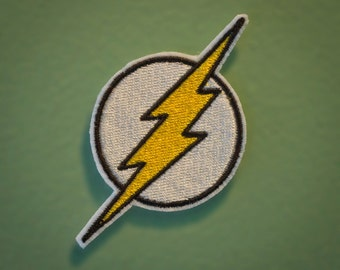The Flash Emblem - Iron-on Embroidered Comic Book Patch
