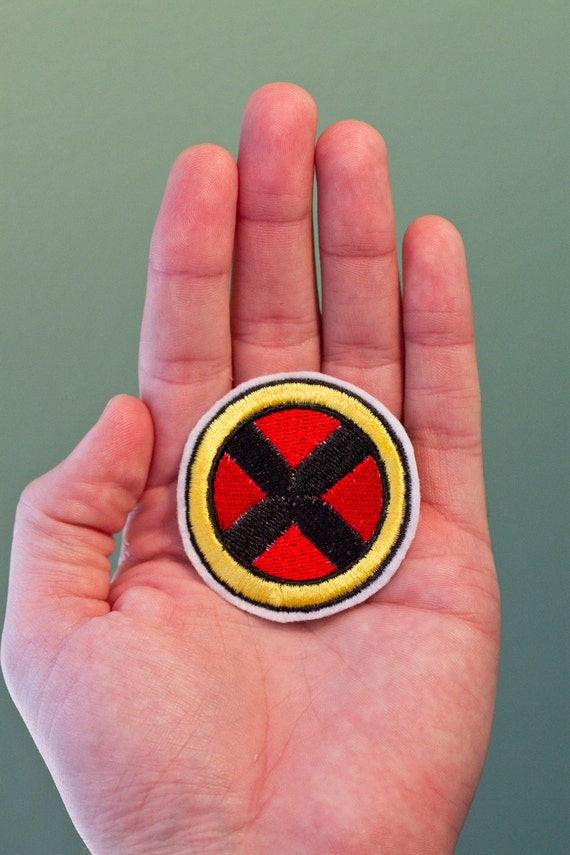 X-men Badge - Iron-on Embroidered Comic Book Patch