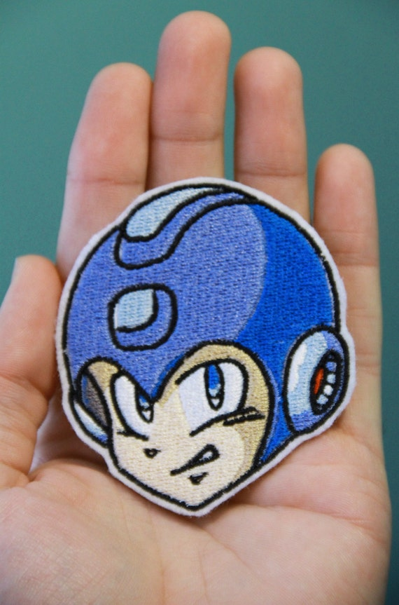 MEGAMAN -- Nintendo Throwback  Embroidered Iron-on Patch