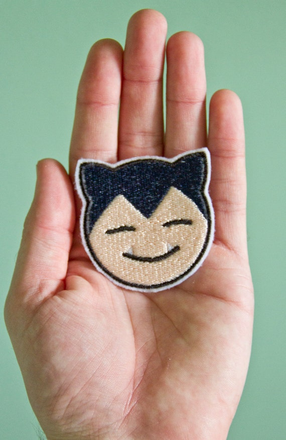 Snorlax -- Embroidered Iron-on Pokemon Patch