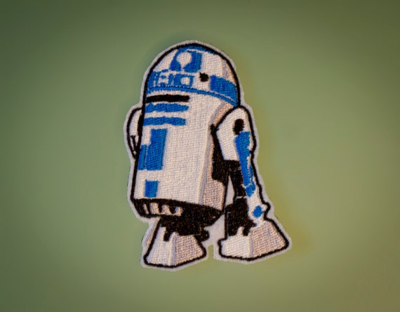 R2D2 -- Star Wars Embroidered Robot Droid Iron-on Patch