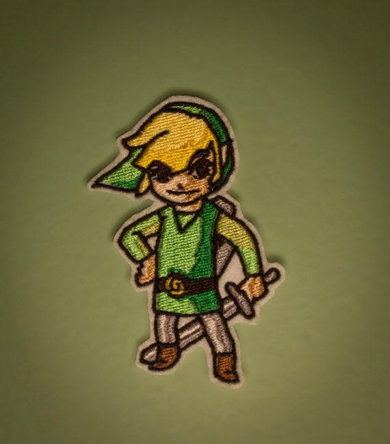 Wind Waker Link -- Zelda Embroidered Iron-on NES Nintendo GameCube Patch