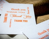 "Letterpress ""Many Thanks"" Cards in Orange"