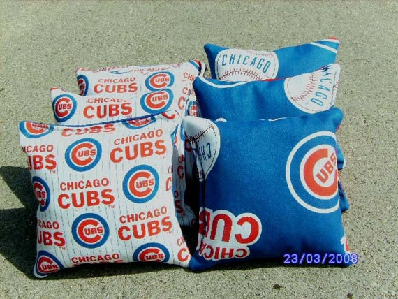 Chicago Cubs Bean Bags Cornhole Bags Baggo By Chicagobaglady
