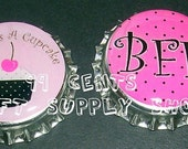 2 Cute As A Cupcake & Bff Bottle Caps For All Your Crafting Needs  Only 99 Cents