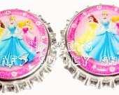 2 Disney Princesses Bottle Caps For All Your Crafting Needs  Only 99 Cents