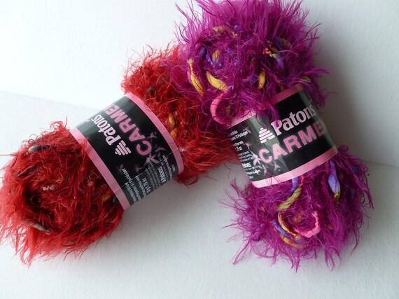 Yarn Sale  - Wine and Violet Carmen by Patons Yarn
