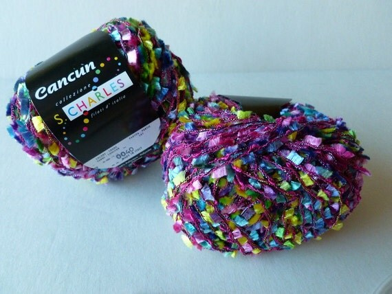 Yarn Sale  - Pink, Green and Blue Cancun by Stacy Charles