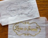 Glassine Candy Favor Bags - Love Is Sweet - Set of 50