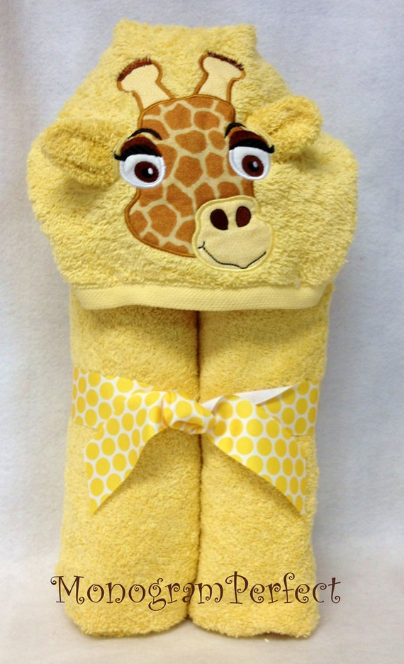Giraffe Hooded Towel and Washcloth Set