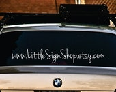 Personalized etsy shop name vinyl car window decal
