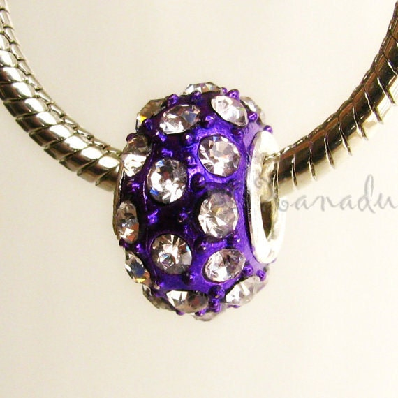 purple bead for add a bead bracelets large bead
