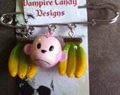 """Vampire Candy - """"Go Bananas v2.0"""" Kilt Pin Brooch/Bag Charm"""