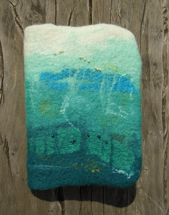 Felt Book Cover ,Removable 'Under the Sea'