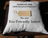 Set of (2) Eco Friendly Euro Pillow Inserts 26 x 26 Custom Listing for Stefanie Dunham