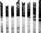 Abstract Landscape / Black and White / Art Deco / 8x10 Photo