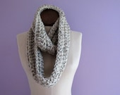 Extra Long Circle Scarf - Chunky, Crocheted, Textured