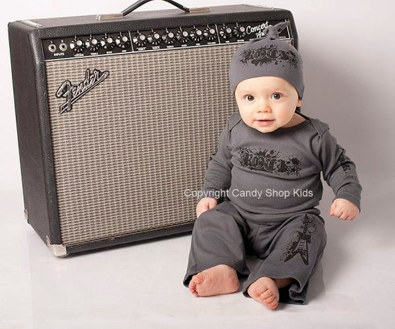 cool baby boy clothes rock star boys asphalt. Black Bedroom Furniture Sets. Home Design Ideas
