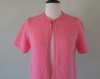 Vintage Pink Nubby Sweater/1970's/Tanner