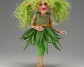 "One-Of-A-Kind Art BJD - WILLOW - by Tanya - with makeup, costume and wig,  miniature 5.75"" tall"