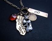 California Charm Necklace - Orange County
