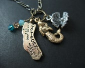 California Charm Necklace - Mermaid Goddess