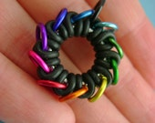 "Blackmaille ""Mindtrip"" Rainbow Infinite Ring Pendant"