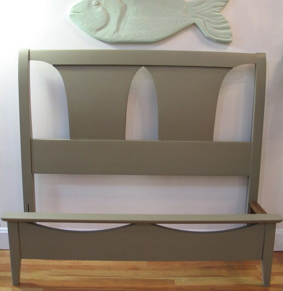 Mid-Century Modern Twin Bed