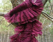Lacey Sangria Scarf