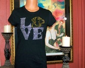 Awesome Rhinestone T-Shirt With The Word Love With A Labradore Retriever.  How CUTE.