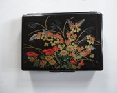Vintage Traveling Jewelry Box with Compartments and Mirror Made in Hong Kong