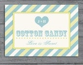 Custom Candy Buffet Sign for Wedding or Party, Printable