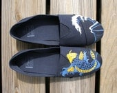 Koi Fish and Wave Shoes