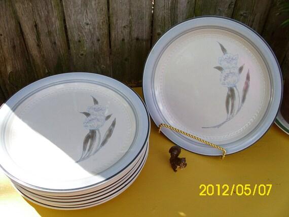 Vintage Johann Haviland-Crowning Fashion-Dinner Plates Set Of TEN