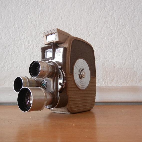 Keystone 8mm Movie Camera, K-26, w FILM & Leather Case, Fathers Day Gift