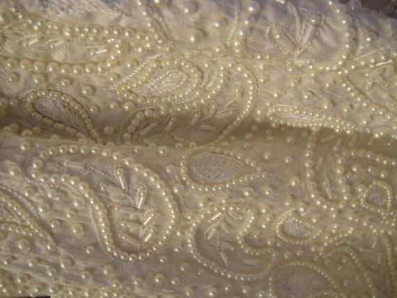 Silk Fabric Beaded