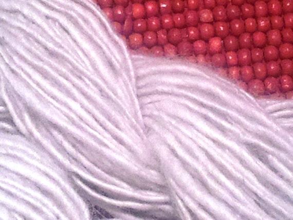 Homespun Alpaca Yarn, soft and white  112 yards