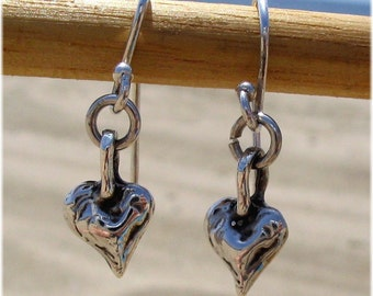 Tiny Heart Sterling Silver Earrings