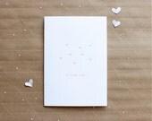 sweet i love you letterpress card