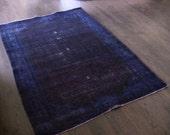 Vintage Overdyed Carpet - Purple
