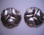 Sterling Silver Taxco Earrings Los Ballesteros 925 - Numbered