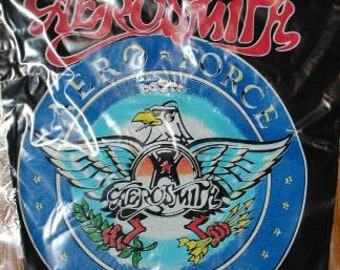 Aerosmith Aero Force One Back Patch DeadStock, likeNew in Original Packaging backpatch
