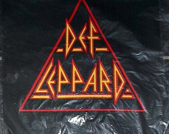 Def Leppard Logo Back Patch - Hysteria Tour - Deadstock Original Vintage in  Orig Packaging, backpatch Hysteria Tour Def Lepard Rare Metal t
