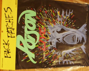 Poison Live Backpatch - Open Up and Say Ahhh Tour (1988)  - Still in Original Packaging - like NEW