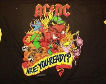 AC/DC Razors Edge Tour T-Shirt 1990 DeadStock Mint Licensed Tags