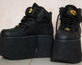 Grunge black Buffalo platform sneakers 8.5 or 9 / 40