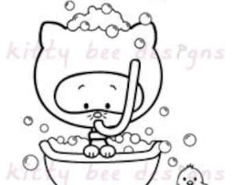 Bath Time Kitty